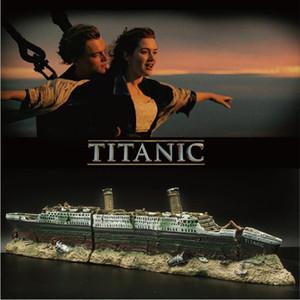 수족관 타이타닉의 잔해 선박 장식 인공 물고기 탱크 침몰 보트 크루즈 장식 물고기 숨기기 동굴 장식 장식 구슬