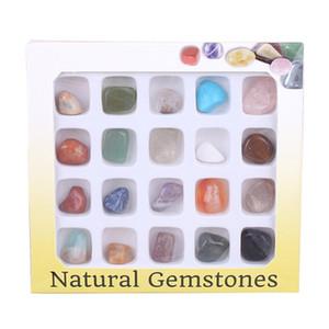 Pietra minerale di cristallo naturale 20 tipi Miscela di pietre preziose Esemplari Pietre Materiale didattico precoce per alunni geografici Vendita calda 11 5ys J1