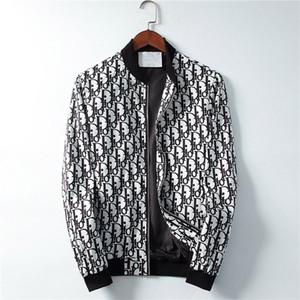 2019 new men's designer jacket zipper windbreaker long-sleeved men's outdoor leisure