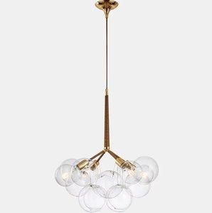 LED-Kronleuchter Wohnzimmer Hängende Lichter Home Deco Suspension Leuchten Nordic Bedroom Beleuchtungsvorrichtungen Glas Suspendierte Lampe