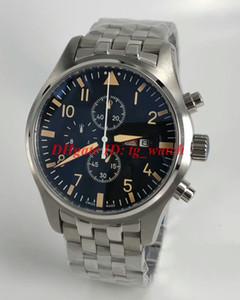 Luxusuhr IW hommes date de jour de pilotes montre mouvement chronographe à quartz bracelet en acier inoxydable de haute qualité de luxe Montrésor