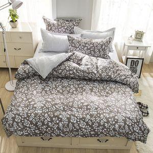 Floral Stripe Stampato Bedding Suit Quilt Cover 3 Pics Duvet Cover assoluta qualità alta set di biancheria per la casa Materiali Tessili