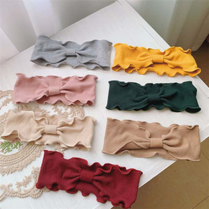 Élégant Dame Fille vague lisière tricoté Bandeau Automne Hiver Coréenne noué bande de cheveux exercice de Yoga Bande de cheveux T9I00251