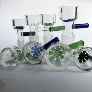 Herb lâmina de vidro tigelas 10 milímetros 14 milímetros 18 milímetros com copo do filtro flor floco de neve para vidro Bongs e Ash Catcher Vidro fumar bacia