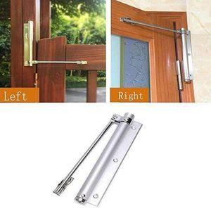 # 3 s Espace métal réglable en aluminium à montage en surface de fermeture automatique de quincaillerie pour portes Accueil Closer Garnitures de porte Ressort de verrouillage réglable