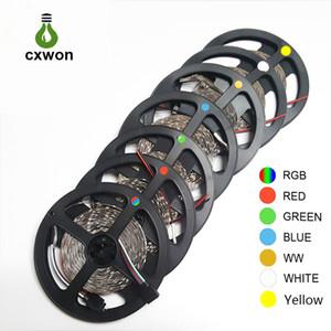 LED Décoration Bande SMD5050 étanche 5m 12V LED bande 300LED 600leds Flexible 60LED / m Bande de lumière pour voiture