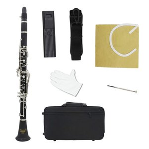 IRIN B Flat Clarinet set Ebonite 17 Keys System with Case Shoulder Straps Screwdriver clarinet shoulder strap reed clip gloves