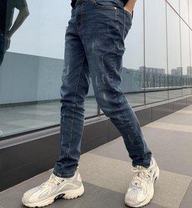 Four Seasons 2020 Hommes Jeans Fashion Tendance Designer Denim Tissu effet spécial de lavage classique Imprimer Taille M-XXL Coton Rallye Jeanss