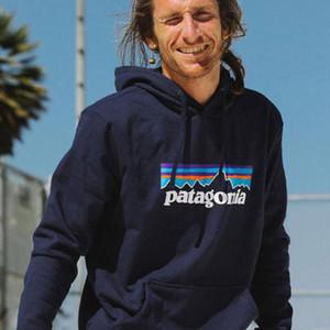 Para hombre de la Patagonia caliente sudaderas Primavera Otoño Nueva Fleece con capucha Mountain letras impresas con capucha envío libre