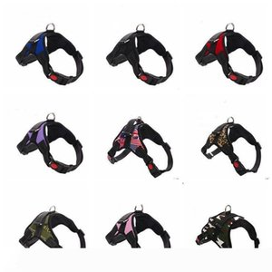 Dog Collar Leashes Oxford Dog Pet Harnesses Large Medium Small Dog Harnesses Vest Explosion-proof 11 Colors LXL1054-1