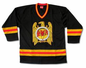 Tueur d'or sur mesure Black Eagle Mens Hockey Jersey shirt New Bande officielle Merch broderie personnalisée Cousu un nombre Votre nom