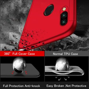Luxury 360 Degrees Case For Xiaomi Redmi Note 4 4X 5 6 7 8 8T Pro Full Cover For Redmi 5 6A 7A 8A K20 K30 Capa Coque Glass