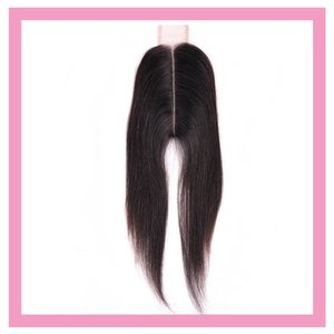 Brazilian Virgin Hair Lace Closure 2X6 Straight Human Hair 2*6 Closure Middle Part 8-20inch Natural Color Straight Top Closure