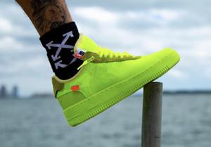 2019 Comercio al por mayor de Forces Volt zapatos casuales Mujer Hombre Entrenadores Forced One Sports Skateboard Classic 1 Verde Blanco Negro Warrior Sneakers