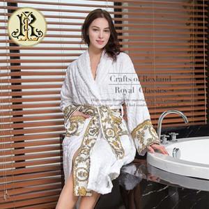 Lujo Classic 100% Egipto Algodón Impresionado Albornoz Nightrobe Para Hombres Y Ladies Desgaste Inicio BN01