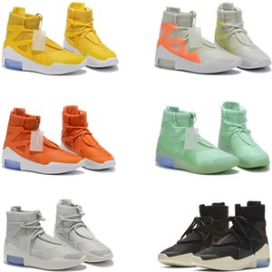 El temor de Dios hotsale 1 Botas zapatos de diseño Triple Negro Naranja alta del tobillo Zapatos del deporte zapatilla de deporte para hombre botas de invierno Monopatín de arranque mujeres de los zapatos