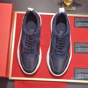 Lüks Erkek Günlük Moda Açık Platformu Footwears Zapatos de hombre Yuvarlak Burun Gumboy Dana derisi Sneaker VL665 Chaussures dökmek hommes CT01