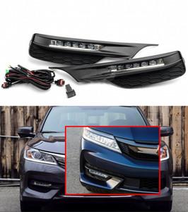 Le style OEM de la voiture a directement un phare antibrouillard de remplacement avec ampoule + commutateur + fil + lunette / 1 jeu pour Honda Accord 2016-2017 (TYPE DE MOYEN ESAT MOYEN DE TYPE U.S)