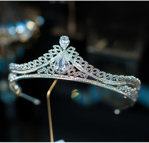Himstory Elegance New Pageant Оголовье Tiaras Crown Женские аксессуары для волос для свадебных подарков