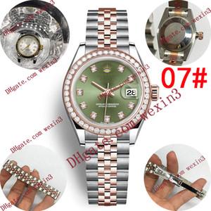 17 Женщина алмазов часы швейцарские часы мужские женщины автоматические наручные часы 28мм дизайнер дамы пару часов изысканный Orologio ди Lusso