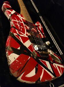 Custom Shop Masterbuilt Eddie Van Halen Frankenstein Heavy Relic mano chitarra elettrica, Floyd Rose Tremolo, Bare Pickups, Schaller Tuner