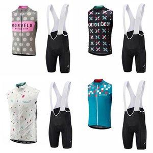 Morvelo squadra ciclismo senza maniche jersey maglia (pantaloncini) shorts set estate ropa ciclismo mtb bike uomo abbigliamento ciclismo c2831