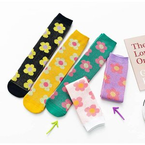2020 Nouvelle Mode Fleur Filles Chaussettes doux Princesse Enfants Chaussettes étudiant tricot genou haute chaussettes filles designer bas bébé chaussette