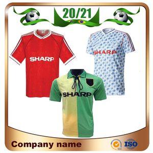 Futbol üniforma utd 1990/1992 Retro Sürümü Birleşik beyaz Soccer Jersey 2006/2008 Manchester Ana Kırmızı Futbol Gömlek 1994 Man UCL Final karşılaşması
