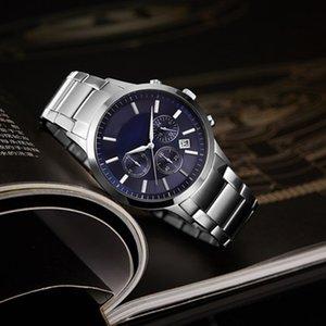 أعلى 2020 ساعة رجالية WatchStainless الصلب العلامة التجارية عارضة الازياء الكوارتز العسكرية الرياضة ووتش حزام جلد الرجال relogio ذكر لل-111