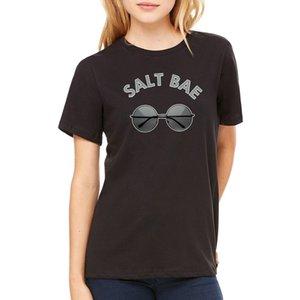 2020 Fashion Women T-shirt cute & Stone Salt Bae Round Sunnies Swag T-Shirt Tee Summer Tee Shirt