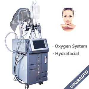 10 in 1 iperbarico ossigeno puro Jet Peel Oxygen Injection viso Apparecchiature per la cura tripolare RF ad ultrasuoni BIO Face Lift macchina