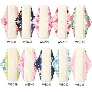 Ohbabyka 5PCS Health Bamboo Women Panty Liner Absorbent Reusable Menstrual Pads Washable Cloth Sanitary Pads