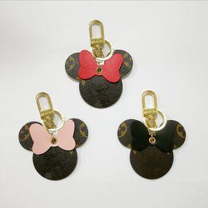 Designer unisex portachiavi borsa Ciondolo Borse Auto Catene Portachiavi per le donne Regali donne mouse portachiavi in pelle