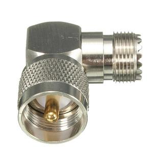 1 PC Ângulo Direito de 90 Graus UHF Plugue Macho PL259 para So239 Feminino Adaptador Jack Conector