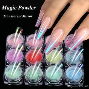 Traum Aurora Nagel-Funkeln-Schimmer-Nail Powder Mermaid Neon Maniküre Pigment Nail Art Dekoration Maniure Chrom-Spiegel-Dipping Powder