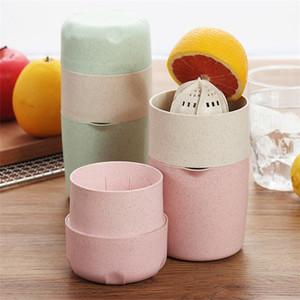 Fácil uso Exprimidor de Plástico Manual de Inicio Juicer Trigo Paja Plástico Taza de Limón Cocina Fruta Vegetal Herramientas