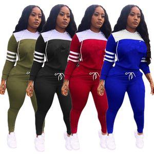 Les femmes P Lettre Imprimer Survêtement à capuche T-shirt Sweat + Pantalons Leggings 2 pièces Tenues Set Sweats à capuche Printemps Vêtements de sport Suit