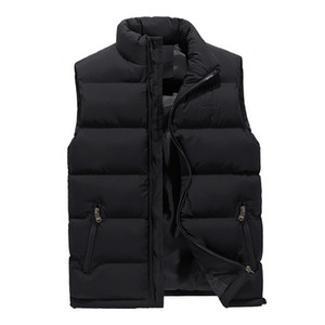 Mens Mode Weste Mäntel Slim Dicke Warme Winter Oberbekleidung Bodywarmer Streetwear Sleeveless Coats Jacken Plus Größe