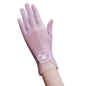 Encaje Touch Screen guantes guantes de conducción guantes de deportes Gimnasio Bicicleta protector solar corto Sun