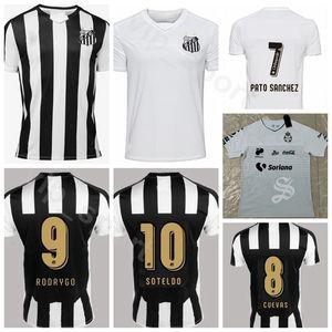 FC Santos 19-20 Homens De Futebol 7 Carlos Sanchez Jersey 27 Eduardo Sasha 17 GONZALEZ 6 GUSTAVO H. DIEGO P. Camisa De Futebol Kits Uniforme