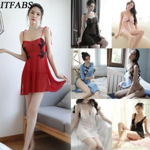 Las mujeres delantal de encaje de la ropa interior de la criada arco de la ropa interior de la ropa de noche precioso Mujer erótica