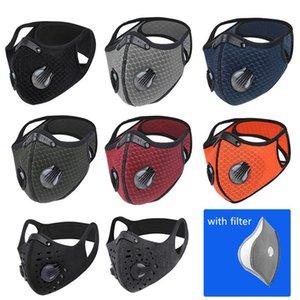 9 cores ajustável Máscara Facial esporte com filtro de carbono ativado PM 2,5 Anti-Poluição Correndo Máscara Formação MTB Road Bike Cycling
