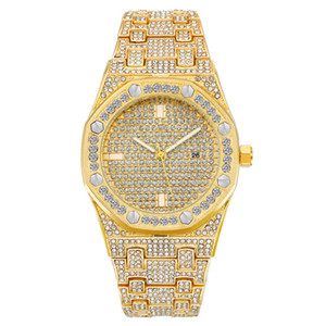Beliebte stil herren frauen luxus mode uhr royal oak marke bling diamant iced out designer uhren quarzwerk reloj de hombres