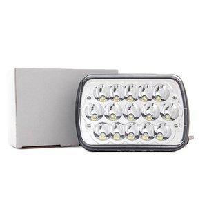 CRESTECH 7 polegada quadrada 45W LED Luz de trabalho Bar Farol LampHigh / médios Car Styling Acessórios para o caminhão Offroad Cars