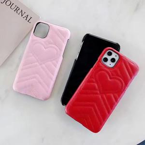 Caixa do telefone do clássico Emboss do amor do coração para Samsung Nota 10 9 8 Galaxy S20 S10 S9 S8 PU de couro capa para o iPhone 11 Pro X Xs Max XR 8 7 6 Plus