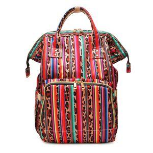 desinger Serape 레오파드 기저귀 가방 도매 공백 Bullskull 엄마 아기 해바라기 케어 기저귀 가방 대용량 배낭 여행 가방 DOM1276