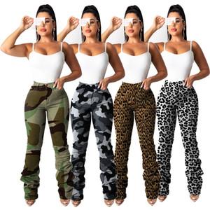 Repèrer 2019 automne européens et américains et les modèles d'hiver camouflage classique des femmes de jeans élastiques de poche plissés, support lots mixtes