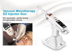 2019 yılında İğnesiz Mezoterapi Makinası Yüksek Basınçlı Enjeksiyon Vakum Meso Gun Terapi Cilt Gençleştirme Kırışıklık Kaldırma