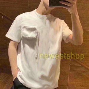 20SS новый летний логотип флокирование жаккард монограмма печати футболка мужчины женщины сплошной цвет дышащий короткие рукава футболка мода футболка хлопок