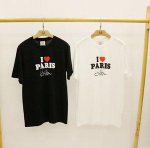 Vetements 2020 s / s I Love Paris печатные женские мужские футболки тройники хип-хоп повседневная мужская хлопчатобумажная футболка Vetements Kanye West негабаритные T200420